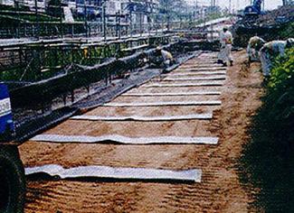 RCドレーン(板状排水材 用途 盛土内排水