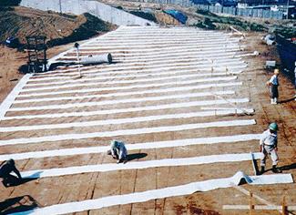 板状排水材 用途 盛土内排水
