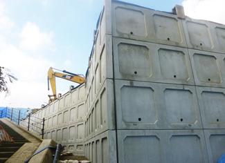 施工例(コンクリートパネルタイプ 防草タイプ